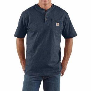 Carhartt K84 Workwear Short Sleeve Henley T Shirt